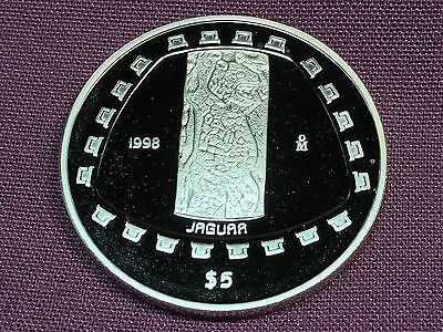 T2: World Coin Mexico 1998 N $5 Proof Jaguar Only 4,300 Minted