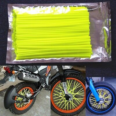 Yellow Wheel Spoke Wraps Covers Honda CR85R 125R 250R CRF230F CRF250X CRF450R