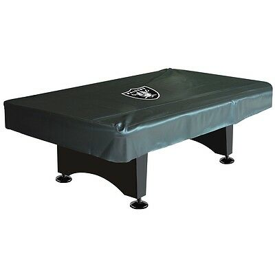 NFL Oakland Raiders 8 ft  Fitted Leatherette Pool Table Cover w/ FREE Shipping