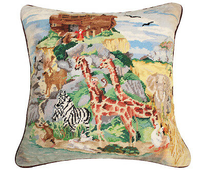 Animals Handmade Wool Needlepoint Petit Point Pillow Cushion Sham
