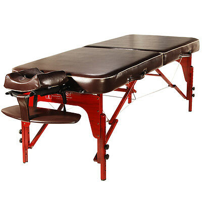 Master Massage 30 inch Monroe Portable Massage Table Memory Foam Brown