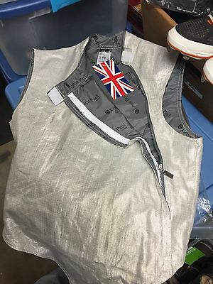 NWT Leon Paul Foil Standard Fencing Fencer Lame, Nickel, F60, Mens Size 40; $166