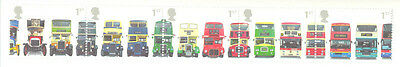 Buses- set of 5 mnh Great Britain (2001)unfolded strip