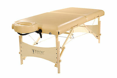 Master Massage 30 inch Larger Size Balboa Portable Massage Table Package Cream