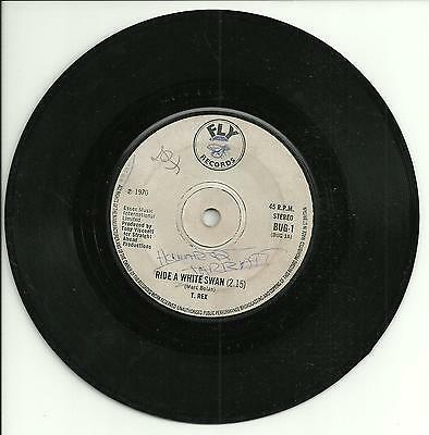 T.REX:RIDE A WHITE SWAN - BUG 1 PURPLE SOLID 1970-  MARC BOLAN 70s GLAM ROCK POP