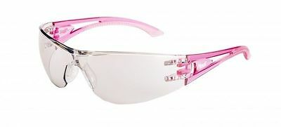 1 Pair Mack Vx2 Crystal Pink Clear Mirror Safety Lens/  Glasses