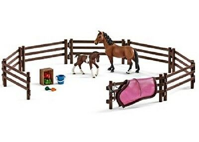 Schleich Model Horse Accessory 42192 - Horse Paddock Play Set