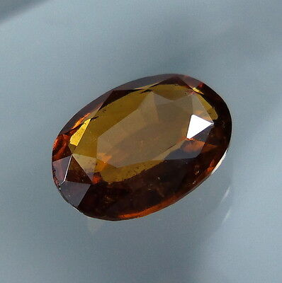 3 Cts. Natural Untreated Reddish Orange Hessonite Garnet 11x8 MM Oval Cut.