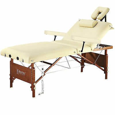 Master Massage 30 inch 3 Section Heated Del Ray Therma Top Salon Portable Table