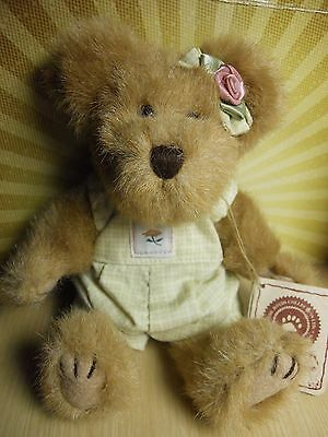 """BOYDS BEARS PLUSH LEISELLE BLOOMENGROWS 8"""" NEW w/ TAGS JOINTED TEDDY"""