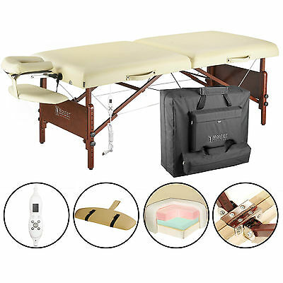 "Master Massage 30"" Inch Del Ray Therma Top Portable Folding Table Sand"