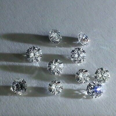 100% Natural White Diamonds Loose 2.3 - 2.5mm VS1 Color G H Round Brilliant Cut.