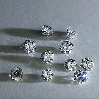 100% Natural White Diamonds Loose 2.50 mm VS1 Color G H Round Brilliant Cut.