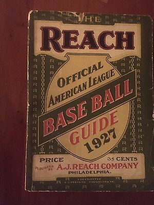 1927 Reach American League Baseball Guide GREAT CONDITION
