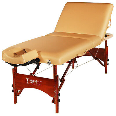 Master Massage 30 inch Deauville Salon SPA Lift Back Portable Folding Table Bed