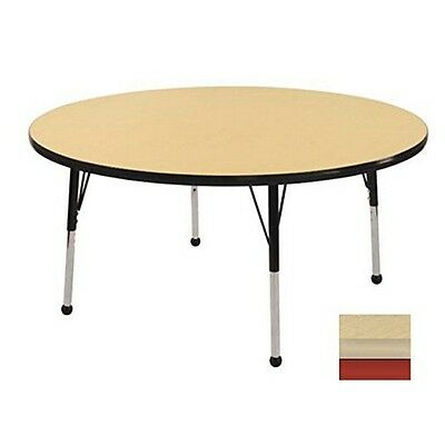 """ECR4Kids 48"""" Round Table Maple-Red/Standard Ball NEW"""