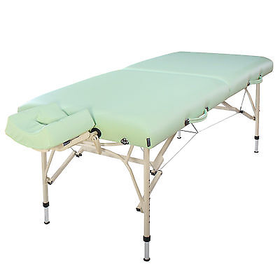 "Master Massage 30"" inch Bel Air Lightweight Aluminum Portable Table Lily Green"