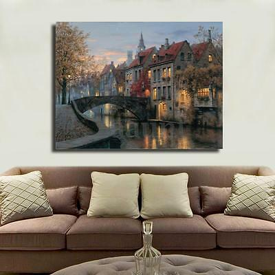Modern House Oil Painting Print Picture on Canvas Home Wall Art Decor No Frame