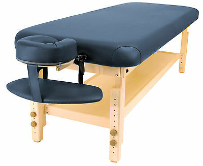 Master Massage 30'' inch Laguna Spa Salon Stationary Massage Table Royal Blue