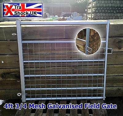"4ft Galvanised 3/4 Mesh Field Gate 2"" Box Ends"