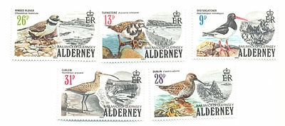 Alderney-Birds of the Island mnh set