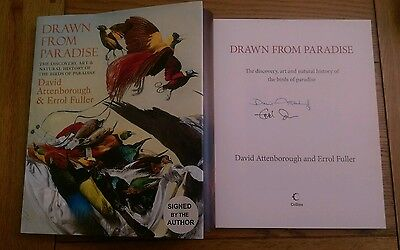 Drawn from Paradise SIGNED David Attenborough Errol Fuller 1st Limited Edition