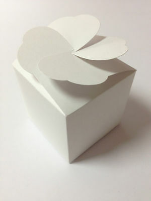 LARGE Cupcake boxes muffin,wedding favour with heart lid (PACK x 12) sweet box