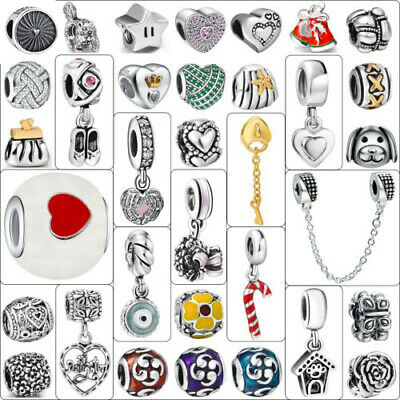 Silver Charms 2017 Hot Fashion European Bead Fit Genuine 925 Sterling Bracelets