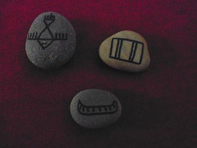 Native American Sacred Rune Stones with Bag