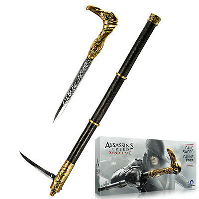Assassin's Creed Syndicate Cane Sword Spada Arma 1:1 Giocattolo Cosplay NEW
