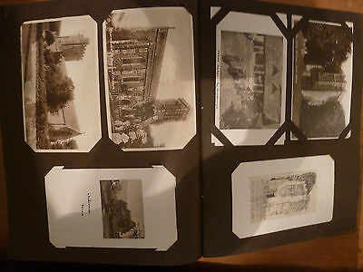 Album with c200 postcards and 100 newspaper photos of southern counties churches