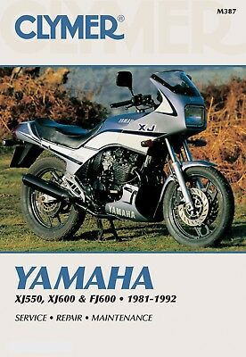 Yamaha XJ 600 (Europe) 1989-1991 Manuals - Clymer (Each)