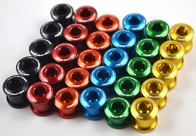 Weaponized  Chain Ring Bolts x5 for BMX, Road, MTB, Touring