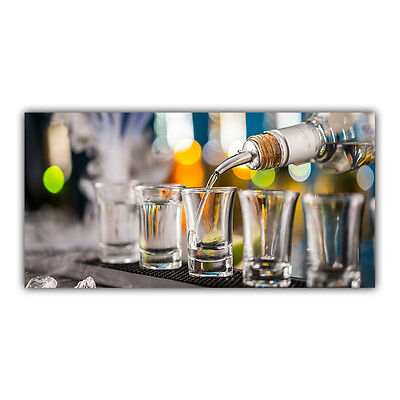 Shooter Tableau Poster Plaque Photo Déco Verre Alcool Bar Tequila Vodka Rhum Gin