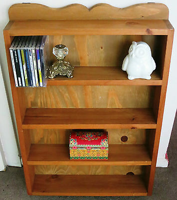 Handmade Vintage Wall Mountable Shelving Unit / Collectibles / CD's / Spice Rack