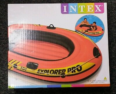 INTEX Explorer Boat 2 Person Inflatable Rubber Dingy Leisure Beach Holiday