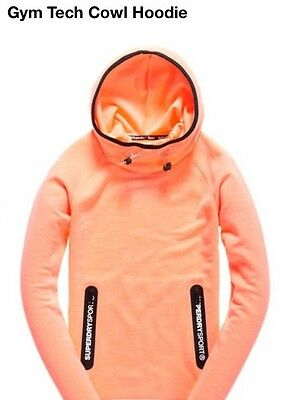 Superdry Women's Gym Tech Cowl Hoodie Size S