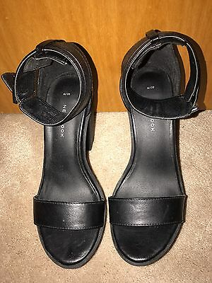 New Look Cleated Heels Barely Theres Sandals Black Size 6