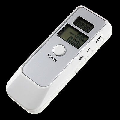 Alcohol Breath Tester Breathalyzer with Clock, Timer and Thermometer