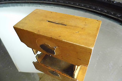 Money Boxes table 19th Century Victorian TWO treen wooden antique RARE