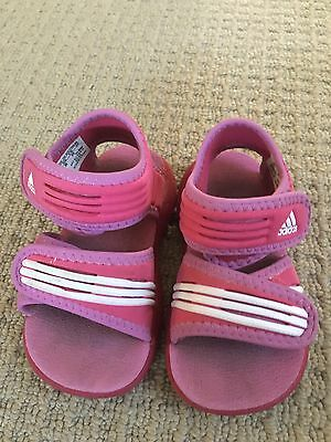 Baby Girl Adidas Sandals Size 4 Pink