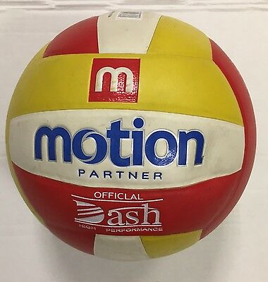 Volleyball Soft Touch Ball Official Yellow/Red/White Outdoor Indoor Game UK