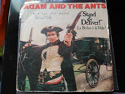 Single Adam And The Ants - Stand And Deliver! - Cbs Spain 1981 P/vg+