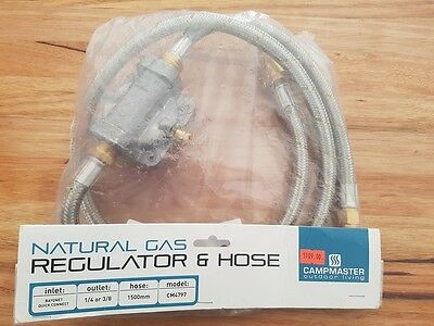 Natural Gas Regulator Braided Hose Bayonet Fitting Bbq Barbeque Connector
