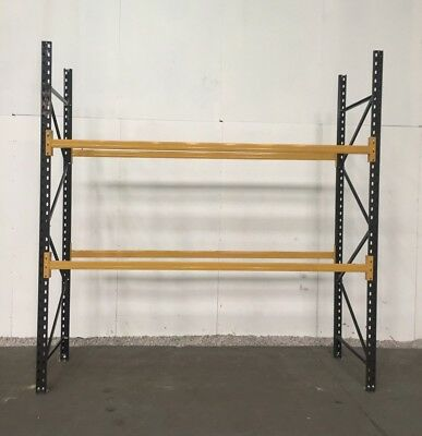 Used Pallet racking, 1 bay, 2 levels ........ H-2500mm L-2240mm D-900mm