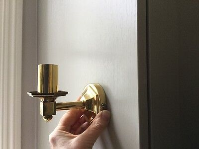 4 small laquered brass sconces
