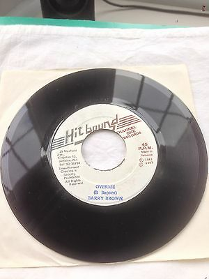 """Barry Brown- Over Me b/w Version...JA 7""""...Hitbound Channel One Records...1983"""