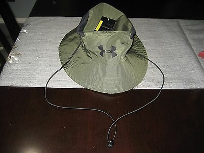 MENS UNDER ARMOUR ARMY CAMO SWITCHBACK Bucket Hat WITH TIES REVERSIBLE NWT   40 c6695fff42d4