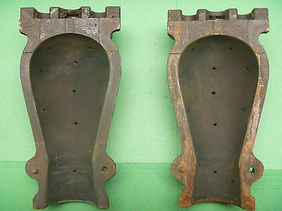 2 Piece Cast Iron Foundry Obsolete Incandescant Light Bulb Mold