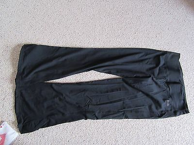 Ladies black running sport/exercise fitness bottoms USA PRO size 14